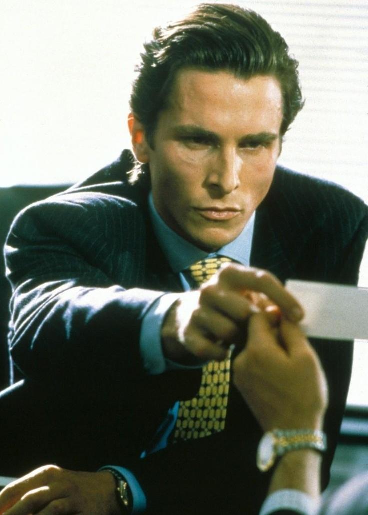 Christian bale in american psycho shots i like