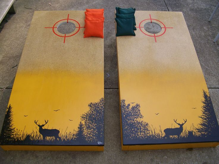 Deer hunting cornhole boards I made  My Projects