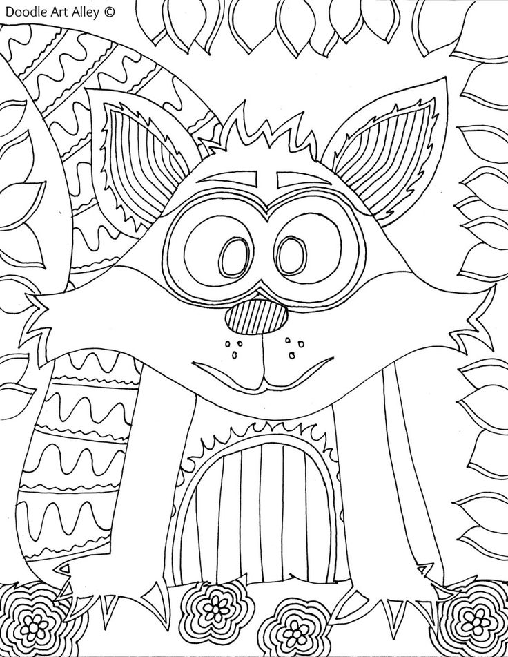 1000+ images about animal coloring pages doodle op Pinterest