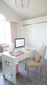 25+ best ideas about White office decor on Pinterest