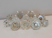 12 Assorted Vintage and Antique Glass Cabinet Drawer Knobs ...