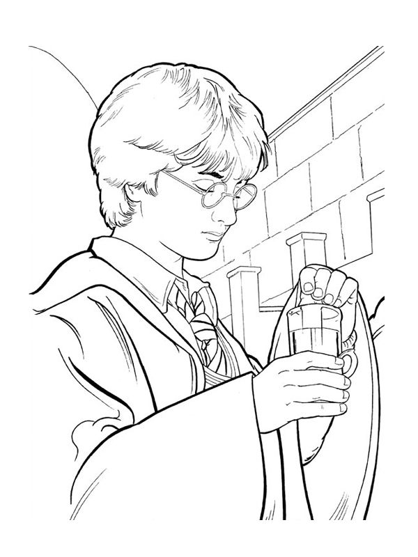 67 best images about coloriages Harry Potter on Pinterest