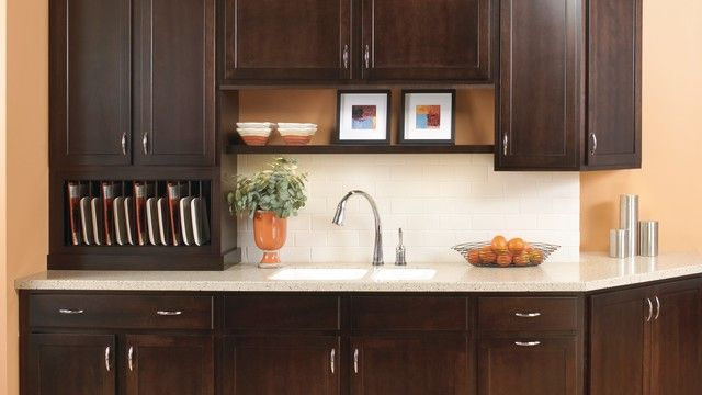 kitchen cabinet companies composite sinks secrest birch in twilight, the darkest finish available ...