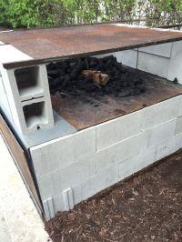 Concrete block 'Caja China' below, grill on top. | Grills ...