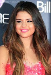 selena gomez's ombre hair hairstyle;