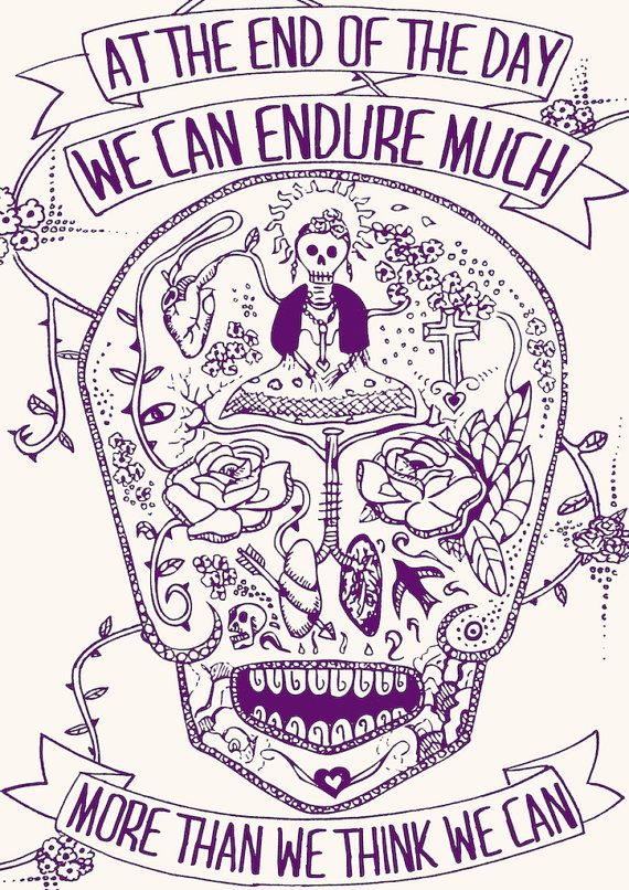 Typographic, Original Illustration Fine Art Print, Frida Kahlo Inspirational quote