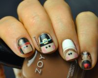 17 Best ideas about Thanksgiving Nail Art on Pinterest