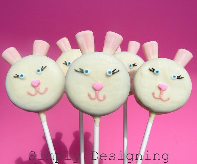 Chocolate covered Oreo bunny pop