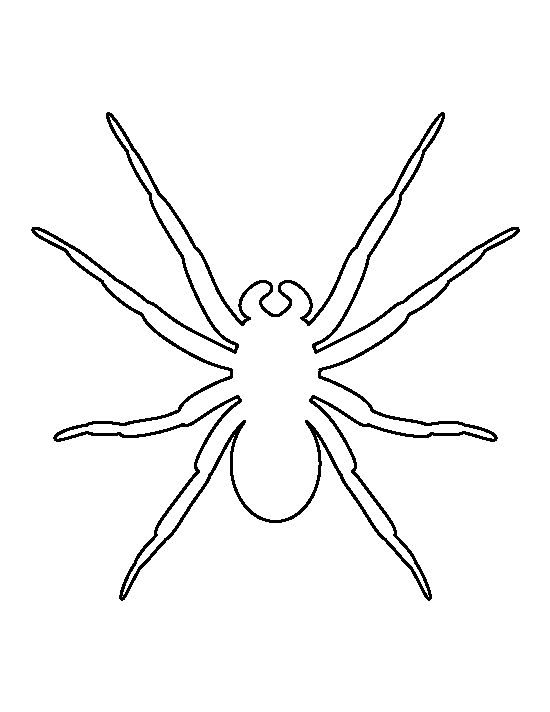 Spider pattern. Use the printable outline for crafts