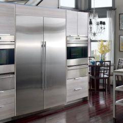 Kitchen Wine Cabinet Dishwasher Liebherr Vs. Subzero Integrated Refrigerator Columns ...