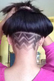 under hair
