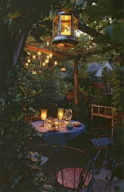 Dinner Candles Romantic Back Yard