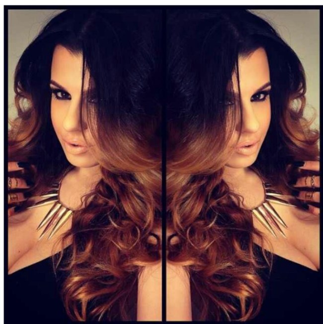 Black And Light Brown Ombre Hair
