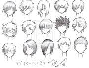 anime guy hair. drawing ideas