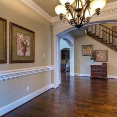 Chair Moulding Ideas High Amazon Traditional Hallway With Hardwood Floors, Chandelier, Rail, Ceiling, Crown Molding ...