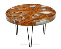 Reclaimed Root Coffee Table Filled with Resin | Soft ...