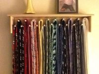 DIY tie holder. Simple and neat!   Tie Storage Ideas ...