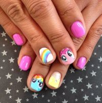 My Little Pony nail art | Nailed it | Pinterest | Little ...