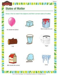 States of Matter - Printable science worksheets for 3rd ...