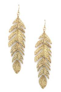 Feather My Ear Earrings | glitter & gold | Pinterest ...