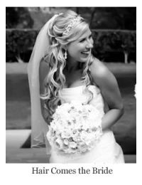 Romantic bridal hair wavy half up half down with headband ...