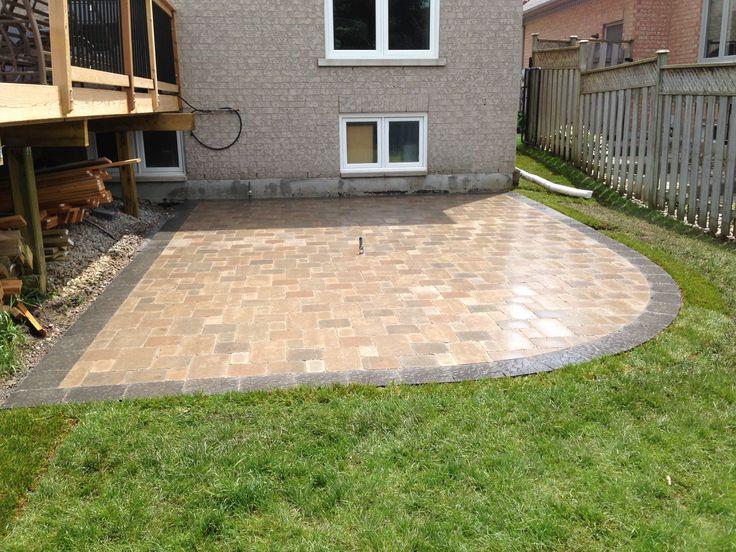 Unilock brussels block patio  Giostone Construction