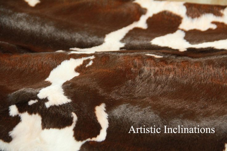 hair on hide chair covers for sale perth 1 yard of faux cow fabric in brown and white, great newborn baby photo prop, posing ...