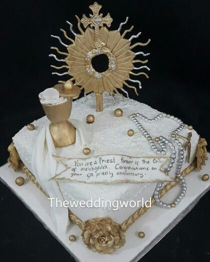 Cake For A Priest Anniversary The Wedding World Cakes