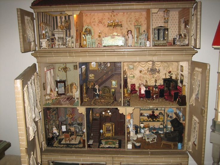 1000 images about Antique Doll House Collection on Pinterest  Cherries Mansions and Mansion