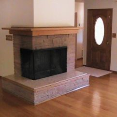 Living Room Decorating Ideas With Stone Fireplace Accent Pieces For Corner Two Sided Mantels   ...
