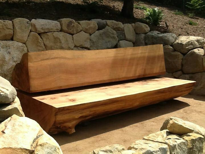 Garden Log Bench Garage Plans Pinterest Gardens