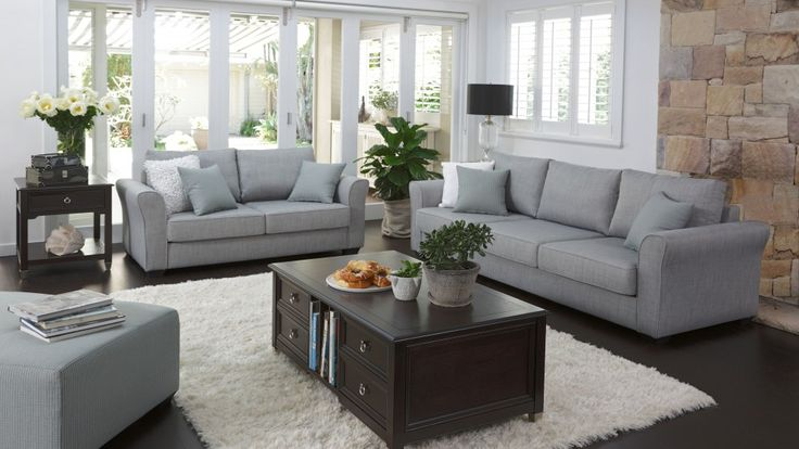 grey living room area rugs and green grove 3 piece fabric lounge suite - lounges ...