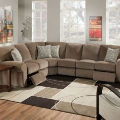 Recliner Living Room Set With Sleeper Sofa Lane 343 Megan Sectional | Reclining ...