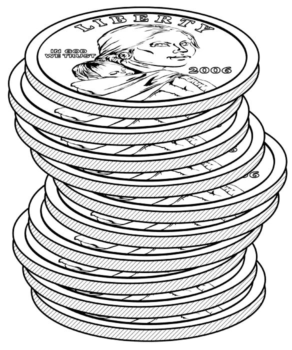 Half Dollar Coin Coloring Page http://math.hope.edu/pow