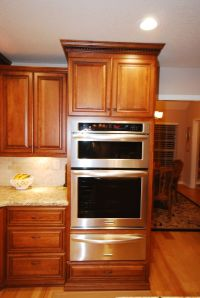 StarMark cherry cabinets with KitchenAid oven-microwave ...