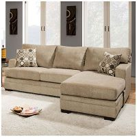 Simmons Columbia Stone Sofa With Reversible Chaise at Big ...