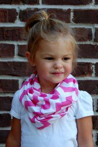 MUSTARD CHEVRON Toddler Infinity Scarf | Infinity Scarfs ...
