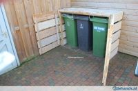 Outdoor Wooden Garbage Can Storage Bin | garbage can ...
