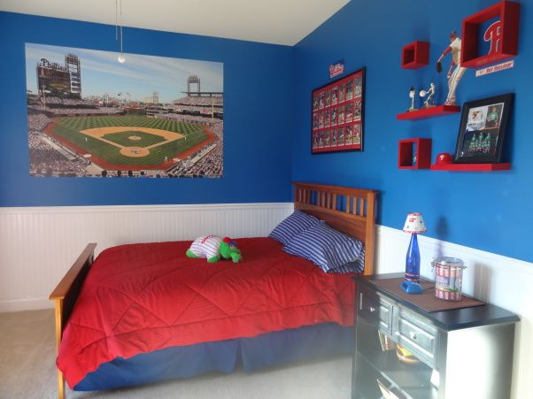"""Phillies """"phan"""" Bedroom For A 6 Year Old Boy"""