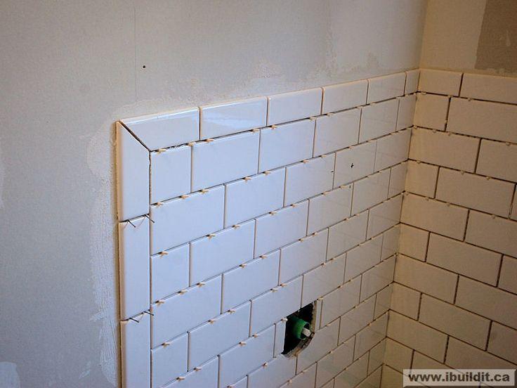 Mitered Joint W Subway Master Bath Renovation