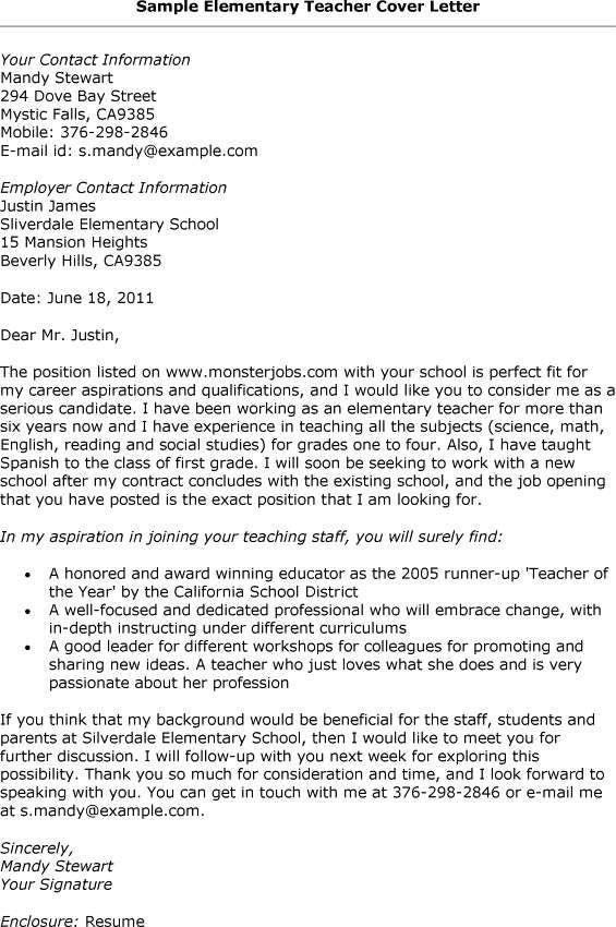 good covering letter for job