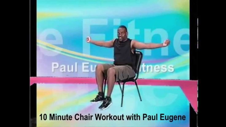 10 Minute Chair Workout  seated exercise  Pinterest