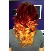 fire affect dip dye hair