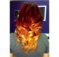 Fire affect dip dye hair | Dip dye hair | Pinterest | Dip ...