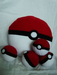 Pokemon Inspired Pokeball Pillow