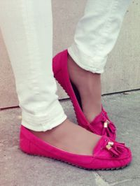 Pink flats   Shoes!   Pinterest   Flats, Tan pantyhose and ...