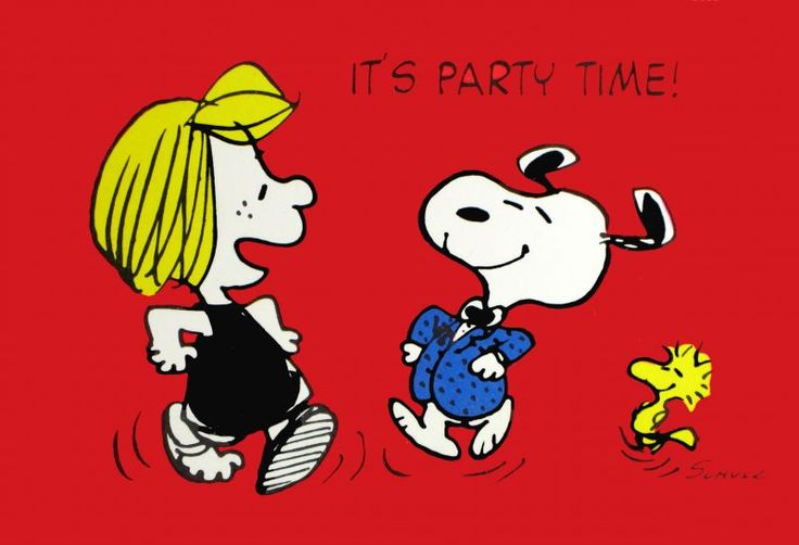 Its Party Time Charles M Schulz Pinterest