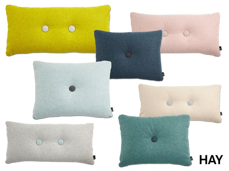 HAY  NEW COLORS Dot Melange pillows are made of the