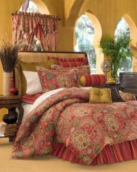moroccan bedding sets in red | 4PC Moroccan RED Dalyan ...