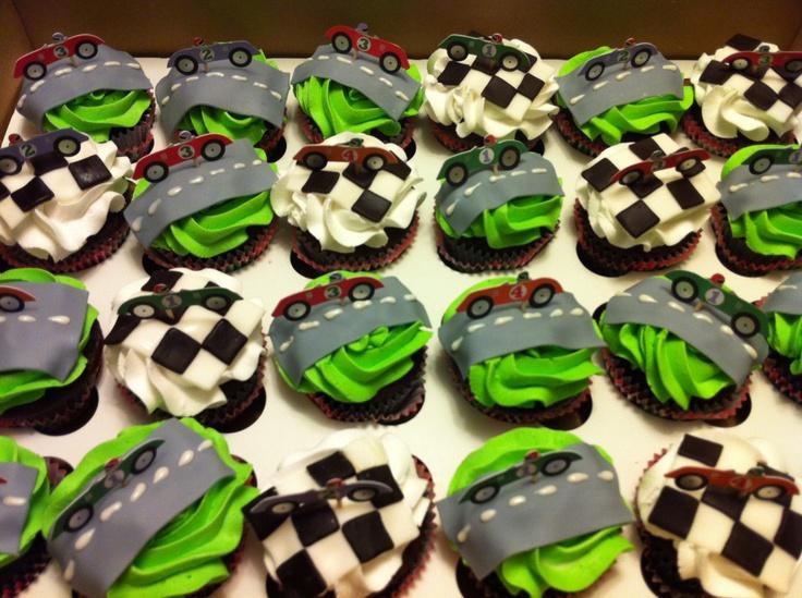 Race Car Cupcakes Cupcakes Pinterest Cars Car